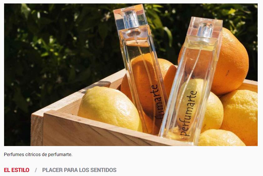 El Español habla sobre los exquisitos aromas de Perfumarte